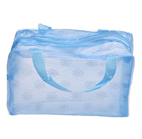 Tonsee Floral Print Transparent Wasserdicht Make-up Schmink Tasche Cosmetic Bag Toiletry Baden...