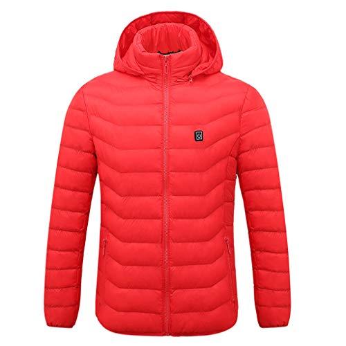 Herren Beheizte Jacken Wasserdicht Winddicht warm Softshell Winterjacke mit Akku und Ladegerät zum Outdoor Arbeiten