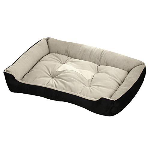 JIAOXM Hundebett, Deluxe Cozy Pet Bed, Premium Plüsch Orthopädische Memory Foam Wasserdichte Hundebetten, Pet Warm Basket Bettkissen, Waschbar,B,60×45×15cm