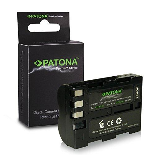 Batteria premium EN-EL3E per Nikon D50 / D70s / D80 / D90 / D200 / D300 / D300S / D700 [Li-ion; 2000 mah; 7,4 V]