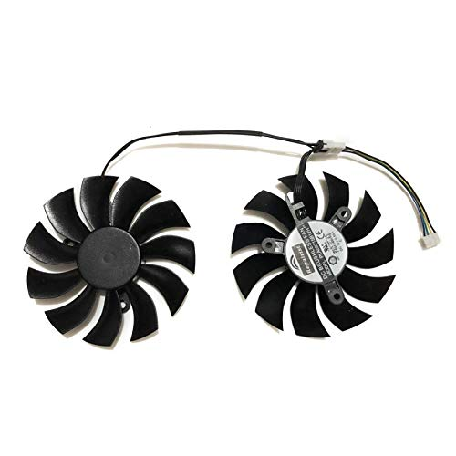 Miwaimao 2 Pcs/Lot DATALAND RX580 GPU Graphics Card Fan for Radeon PowerColor Red Devil Golden Sample RX 580 8GB GDDR5 Video Card Cooling
