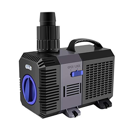 YAOBLUESEA Eco Teichpumpe Filterpumpe Bachlaufpumpe Filterpumpe 4500L/H 30W Energiespar Wasserpumpe Koiteich Bachlaufpumpe SunSun CTP-4800