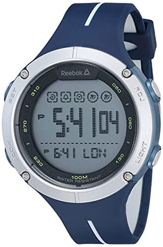 REEBOK ベースライン デジタル ブルー メンズ 腕時計 48mmケース ABSケース ネイビーブルー ポリウレタンストラップ グレー/ブラック デジタルダイヤル (RD-BAS-G9-PNIN-WY)