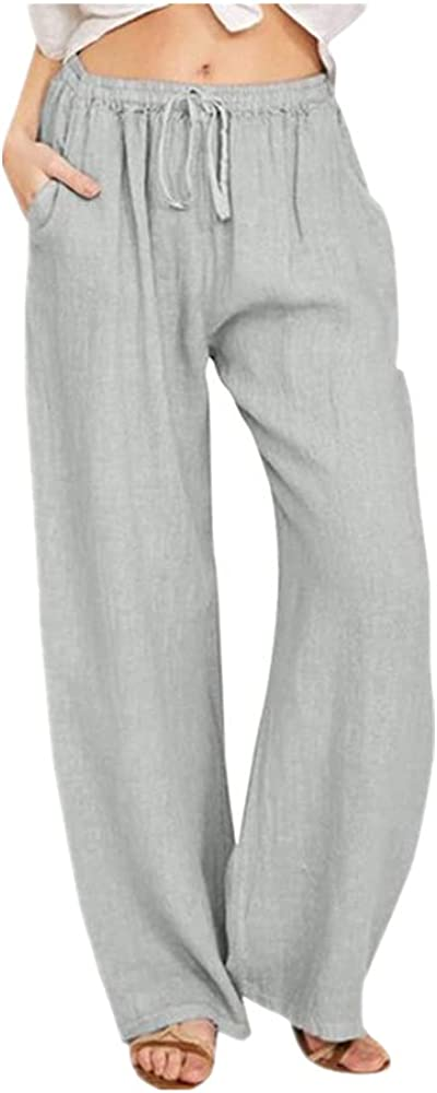 NP Summer Women's Clothing Casual Waist Long Wide Leg Pants Sports Trousers