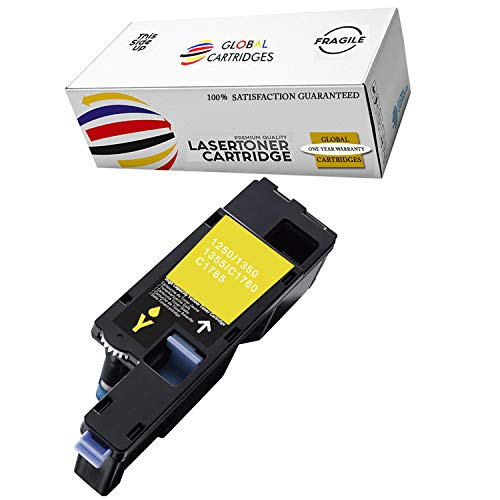 Global Cartridges Premium Quality Compatible Yellow Toner Cartridge DG1TR / 331-0779 for Dell Dell 1250/1350/1355 Printers