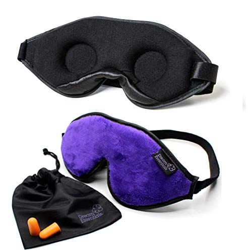 Dream Essentials Escape Sleep Mask with Earplugs and Carry Pouch, Purple