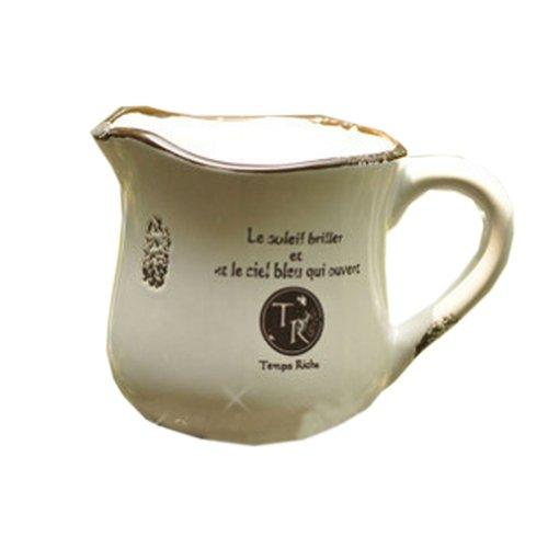 Cadeaux Creative Jardinage Pot à Lait Faïence Planteur Flower Pot 4.9 * 3.5 \