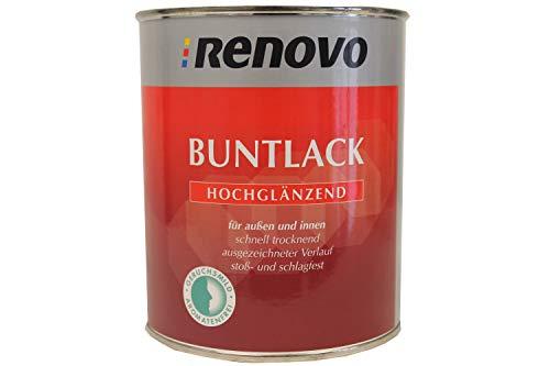 2x0,75 L Renovo Buntlack Hochglänzend RAL 3004 Purpurrot innen/außen lösemittelhaltig 1,5 L