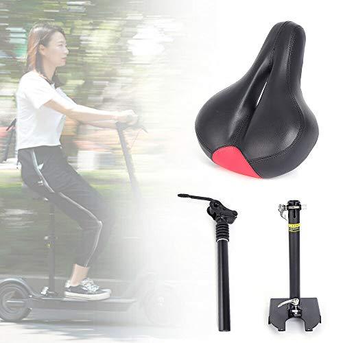 Elektrischer Skateboard-Sattel Faltbarer Stoßdämpfender Sitz für Xiaomi M365 Stoßdämpfender Stuhl Sitz E-Scooter Zubehör Schwarz