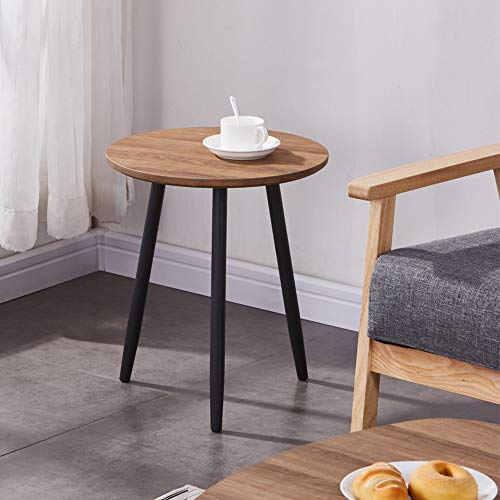 GOLDFAN Wooden Coffee Side Tables Modern Oak Living Room End Tables Sofa Small Round Side Tables for Office Furniture