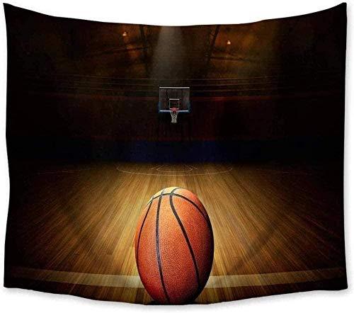Yhjdcc Tapiz de baloncesto para colgar en la pared, colcha, colcha, alfombra de yoga, decoración del hogar, dormitorio, 150 cm x 200 cm