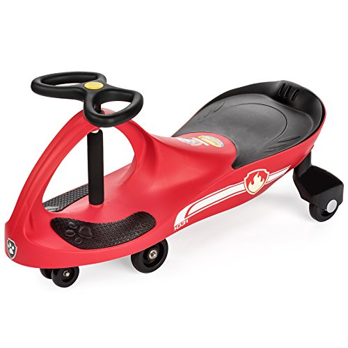 PAW Patrol - The Original PlasmaCar by PlaSmart Inc. - Marshall – Red, Ride On Toy, Ages 3 yrs and up, No batteries, gears, or pedals, Twist, turn, wiggle for endless fun