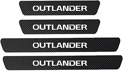 4 Pcs Carbon Fiber Car Outer Door Sill Protector Kick Plates for Mitsubishi ASX Eclipse Cross Lancer Outlander Pajero, Strong Adhesion, Anti-Dirty Scuff Guard Threshold Cover Pedal