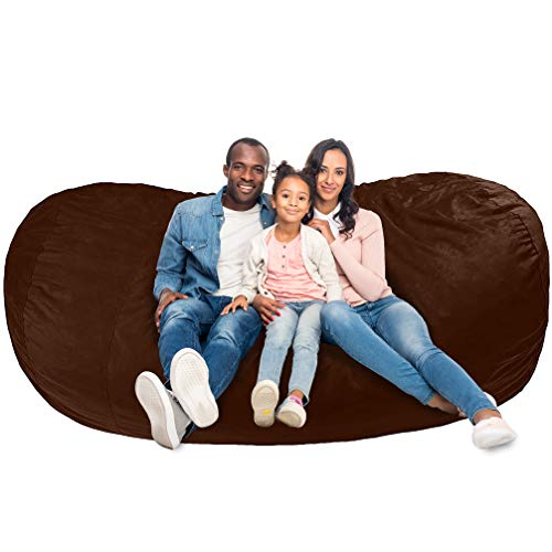 AmazonBasics Memory Foam Filled Bean Bag Chair with Microfiber Cover - 4', Gray