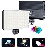VIJIM VL120 Lampe vidéo LED à intensité variable avec panneau lumineux bicolore 3200-6500K,batterie intégrée, 120 mini lumière LED pour à chaussures à froid pour tous les appareils DSR caméscopes