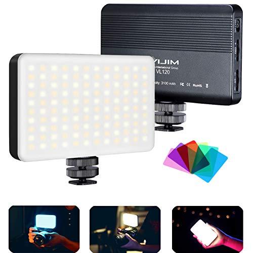 Eclairage Video Panneau Led, VL120 Lampe Led Photo Bicolore, éclairage Video Photo, 3100 mAh Batterie Intégrée, Accessoire Photographie appareils DSRL Camera Vlog
