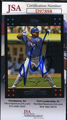 Nelson Cruz JSA Coa Autograph 2007 Topps Hand Signed - Baseball Slabbed Autographed Cards