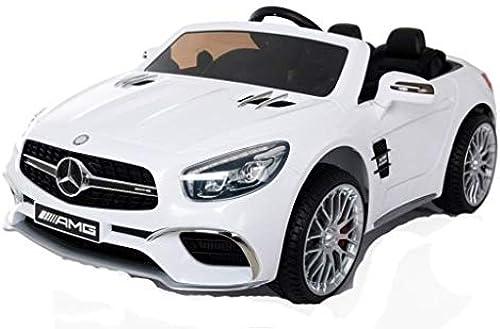 de moda Mercedes SL65 - Coche eléctrico para Niños Niños Niños con 2 Motores, MP3 y Mando a Distancia, Color blanco  Precio por piso