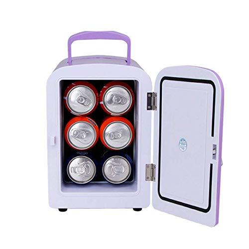 CNDY Mini-Kühler mit Wechsel- oder Gleichstromversorgung, geringes Gewicht, kompakt, automatische Kühlung und Erwärmung für den Heimgebrauch, Kompatibilität mit Gleichstrom und Wechselstrom, Lila