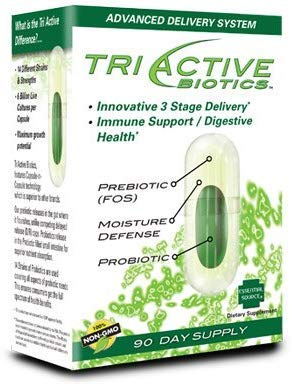 Triactive Biotics Supplement for Immune and Digestive Health 100% Non-GMO 90 Day Supply