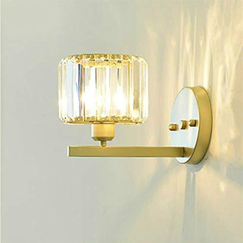 ZTH E27 Lámpara de Cristal LED lámpara de Noche Dormitorio Sala de Estar lámpara de Pared, Color Claro: a (sin Fuente de luz) (Color : LED Warm Light 5W)