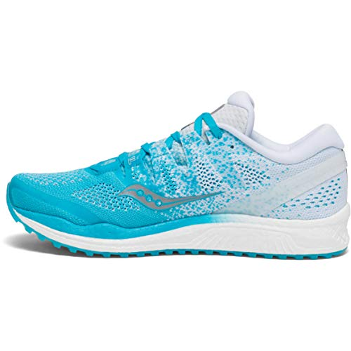 Saucony Womens Freedom ISO 2 Logo Running Shoes Blue 10.5 Medium (B,M)
