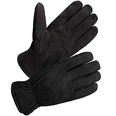 SKYDEER Men's and Women's Winter Work Gloves with Windproof & Wear-Resistant & Thick Full Deerskin Leather Suede (SD8671T/M)