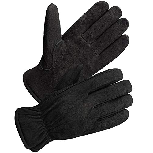 SKYDEER Winter Work Gloves with Windproof & Wear-Resistant & Thick Full Deerskin Leather Suede and 3M Thinsulate Insulation (SD8671T/M)