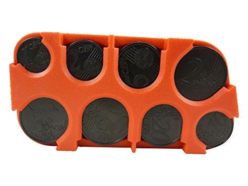 Scatola porta monete, per organizzare le monete, in plastica, Rosso (rosso), TU