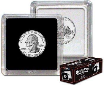 2×2 Coin Snap Holder Quarter (24.3mm) Box of 25
