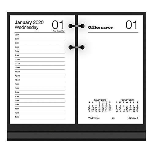 Office Depot Brand Daily Desk Calendar Refill, 3-1/2' x 6', White, January to December 2020, SP717D50