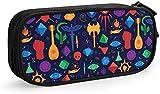 Bolsa para lápices, bolsa de cosméticos, bolsa de maquillaje, bolsa de papelería, caja de almacenamiento para suministros escolares y oficina, mujeres y niñas, Ttrpg Forever