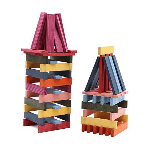KAPLA OCTOCOLOR, 100 Holzplättchen, 8 verschiedene Farben - 4