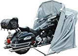 Garaje plegable para motocicleta, color gris, XL
