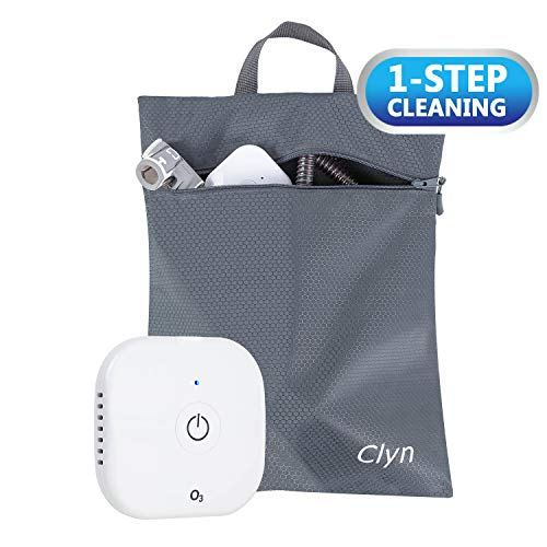 Clyn O3N Ultra-Portable CPAP Cleaner and Sanitizer with Large Smell-Proof Sanitizing Bag, One-Step Cleaning, Portable and Rechargeable CPAP Cleaner for All Masks, Pillows, Hoses and Humidifier