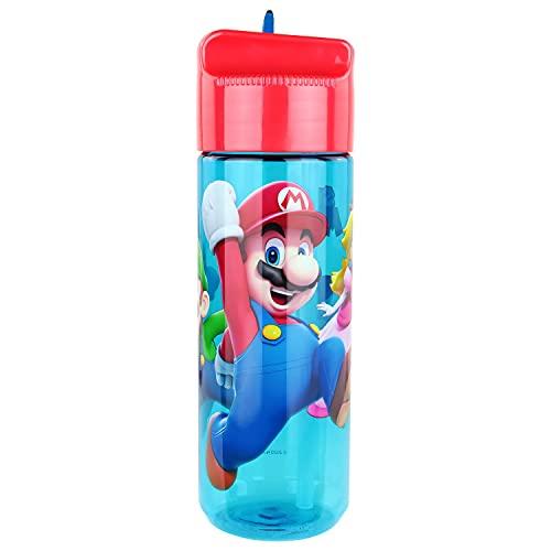 P:OS Borraccia con Motivo Super Mario, in plastica, Senza BPA e ftalati, capacità Circa 540 ml, Ideale per Viaggi, Asilo e Sport, Ragazze, Multicolore, 33165