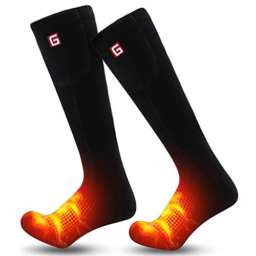 Spring Heated Socks Electric Rechargeable Winter Heated Socks for Men Women 3 Heating Settings Warm Cotton Thermal Socks for Riding Camping Hiking Skiing