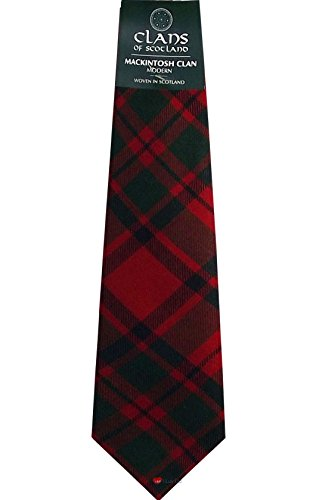I Luv LTD MacIntosh Clan 100% Wool Scottish Tartan Tie