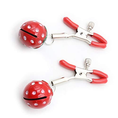 EXCEART 1 Paar Metall Nippelklemme Unterhaltung Nippel Clip Weibliches Flirtspielzeug für Paare Liebhaber Spiele für Erwachsene (2 5 Cm)