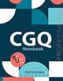"""CGQ Notebook , Examination Preparation Notebook, Study writing notebook, Office writing notebook, 140 pages, 8.5"""" x 11"""", Glossy cover"""