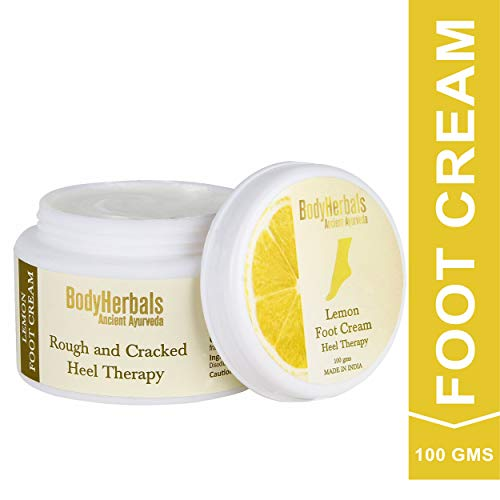 BodyHerbals Lemon Foot Cream, For Rough & Cracked Heel (100g), Soft Feet, No Sulphates No Parabens
