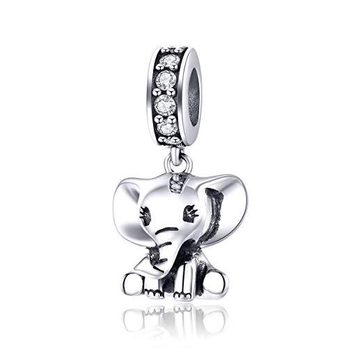 Bijoux Blu Baby Olifant Hanger Bedel Zilver 925 Sieraden Originele Armband Ketting Leuke Dier Mode Sieraden Accessoires