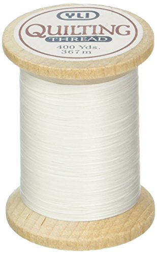 YLI 21104-WHT 3-Ply T-40 Cotton Hand Quilting Thread, 400 yd, White
