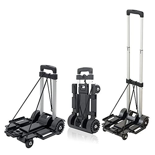 Carro de equipaje ligero plegable de aleación de aluminio resistente para viajar,...