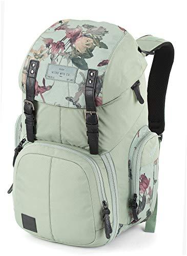 Weekender Alltagsrucksack mit gepolstertem Laptopfach, Schulrucksack, Wanderrucksack inkl. Nassfach, 42 L, Dead Flower
