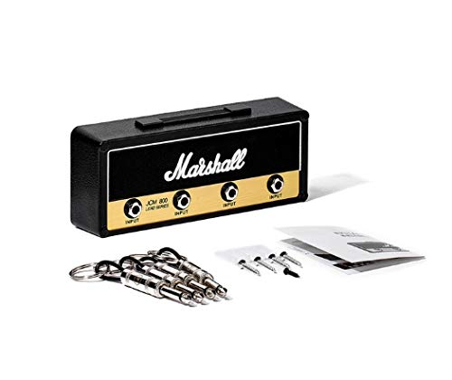 Marshall Key Holder Jack Rack 2.0 JCM800 Guitar Key chain Guitar Amp Key Holder Hook Wall Mounting Homeware (Color : Keyholder Set Black)