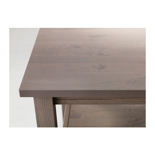 IKEA HEMNES - Mesa auxiliar, gris-marrón - 55x55 cm: Amazon.es: Hogar
