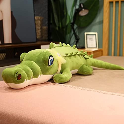 KXCAQ 100 CM-120 CM Encantador cocodrilo Gigante Almohada de Felpa de Dibujos Animados cojín de Animales muñecas Regalo de cumpleaños para niños decoración de bebé 100 cm Verde