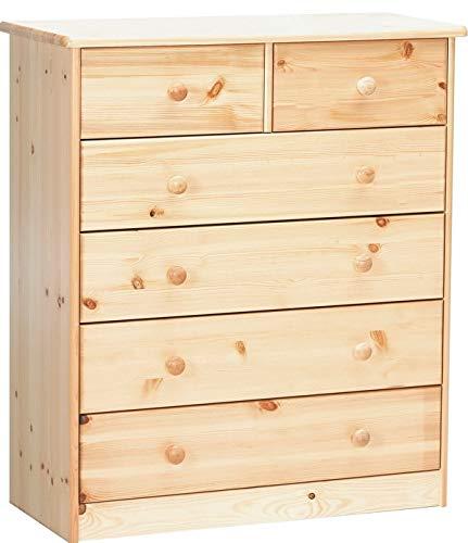 Erst-Holz® Kommode Sideboard Anrichte Kiefer Natur 2+4 Schubladen 90.50-13
