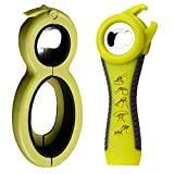 Funny Tool Jar Opener Bottle Opener & Can Opener Ergonomic Multifunction Opener Set for Weak Hands,Arthritis Sufferers,Elderly,Women,Seniors Kitchen Tool Set(2 pack) (green)
